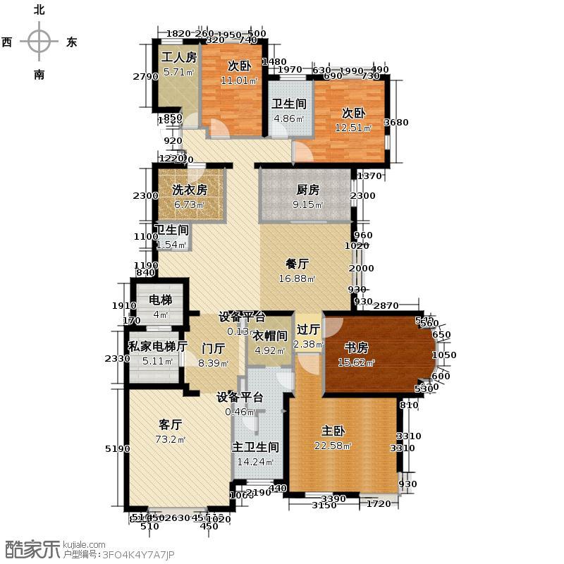 远洋万和城256.89㎡A3#楼02户型4室1厅2卫1厨