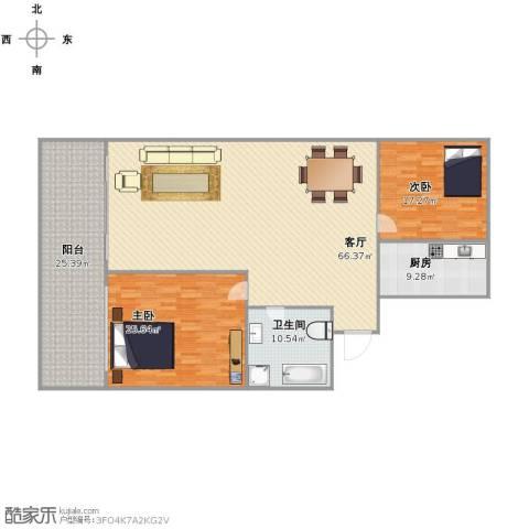 富雅花园2室1厅1卫1厨203.00㎡户型图