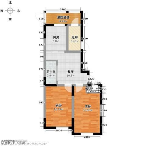 新星宇和源2室1厅1卫0厨78.00㎡户型图