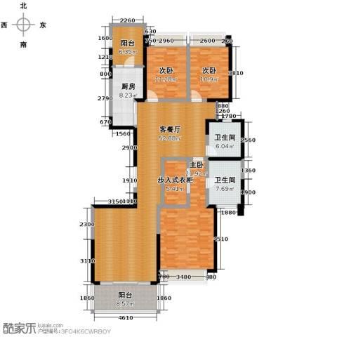 恒大华府3室1厅2卫1厨185.00㎡户型图