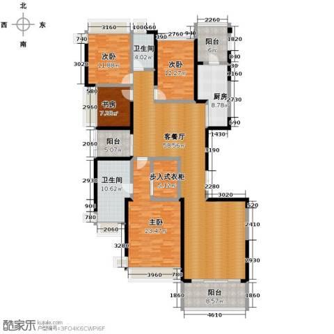 恒大华府4室1厅2卫1厨210.00㎡户型图
