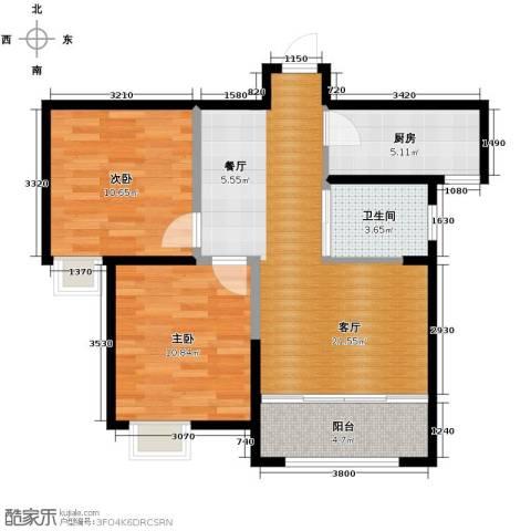 恒盛豪庭2室2厅1卫0厨86.00㎡户型图
