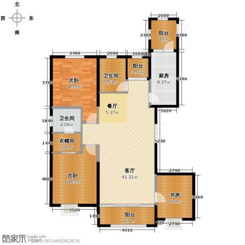 恒盛豪庭3室2厅2卫0厨164.00㎡户型图