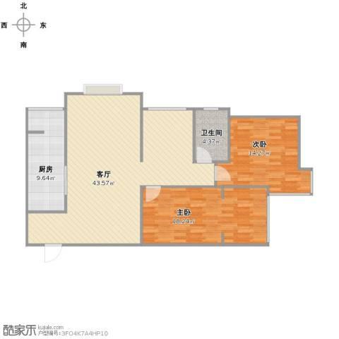 上和城2室1厅1卫1厨120.00㎡户型图