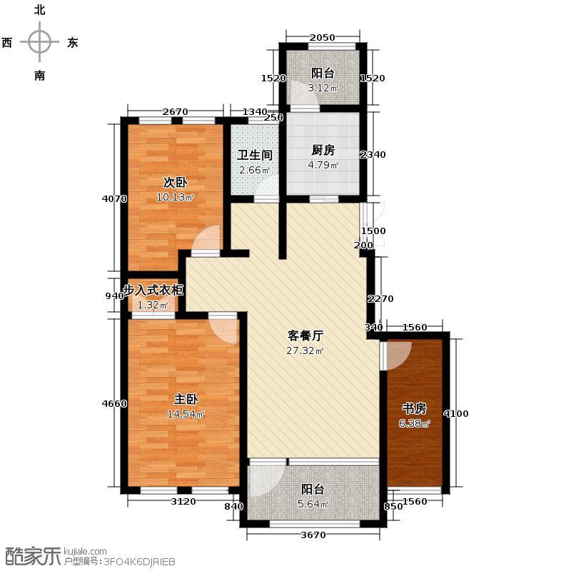 群力玫瑰湾4.00㎡G04/G06预测户型3室2厅1卫