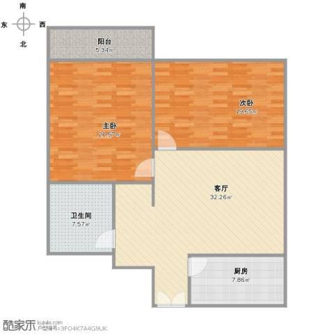 腾龙雅苑2室1厅1卫1厨125.00㎡户型图