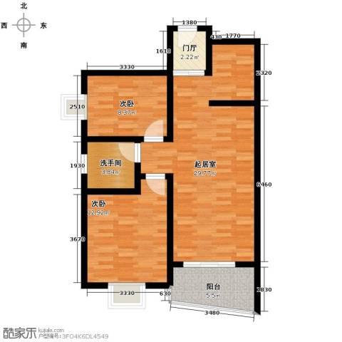 山海湾温泉家园82.00㎡户型图