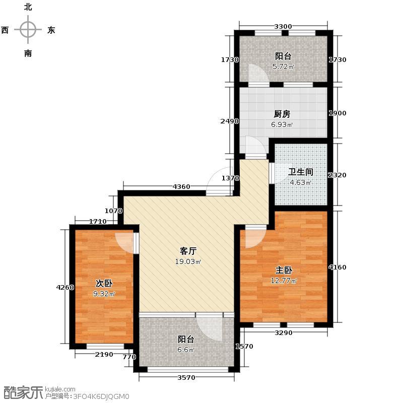 群力玫瑰湾G01预测建筑面积11073至户型2室1厅1卫