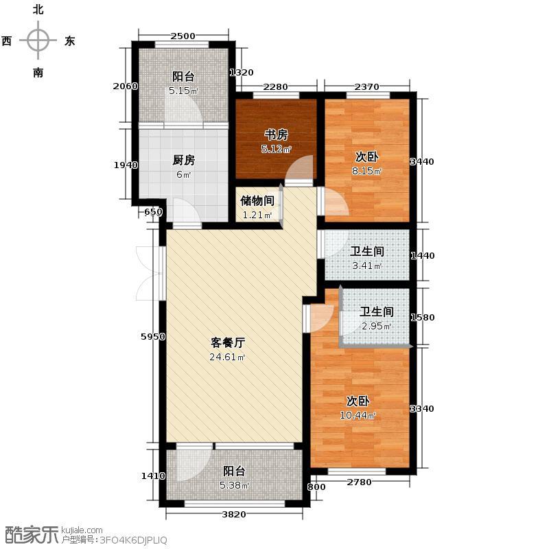 群力玫瑰湾2.00㎡G02/G03预测建筑面积14538至户型3室2厅2卫