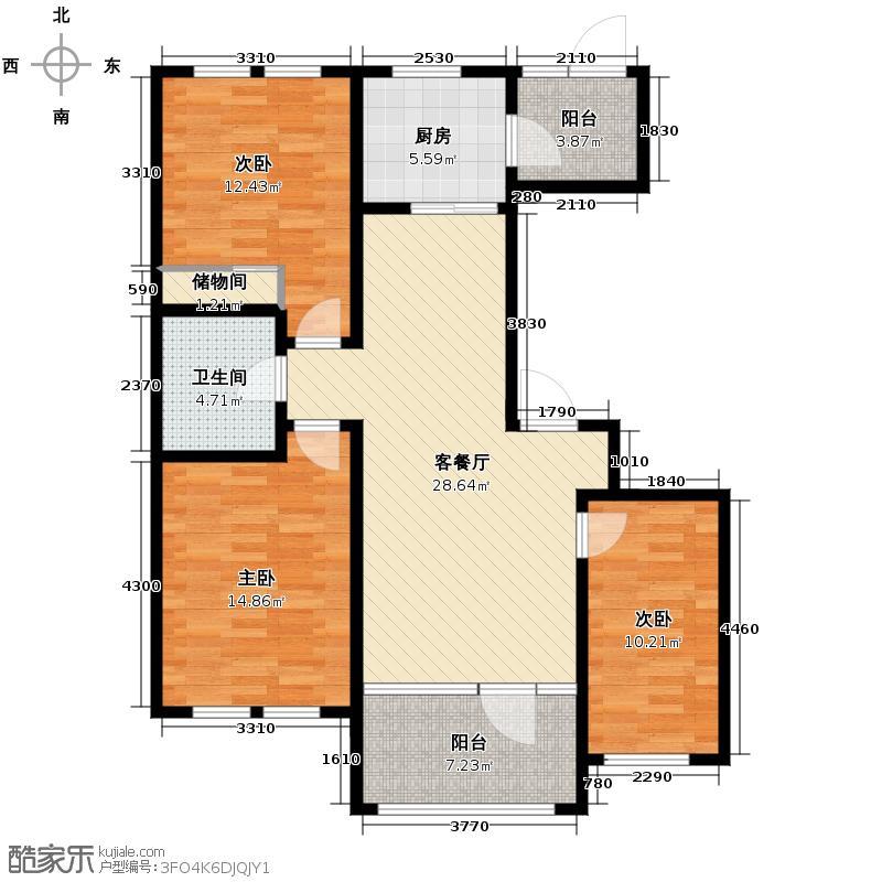 群力玫瑰湾G01预测建筑面积13257至户型3室2厅1卫