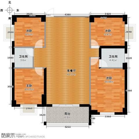 豪景新城4室2厅2卫0厨142.00㎡户型图