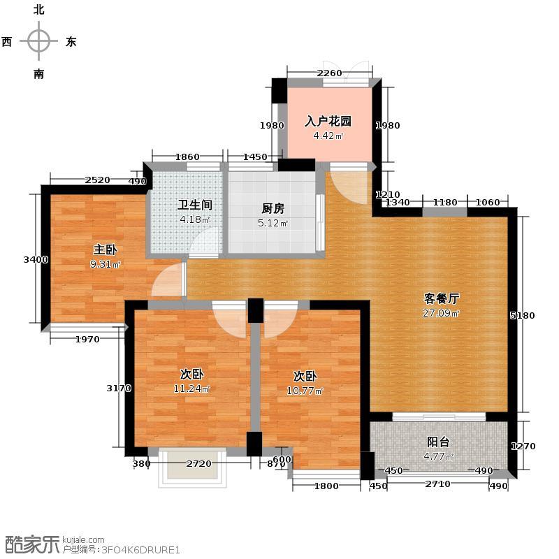 罗源湾滨海新城88.99㎡一至三区户型10室