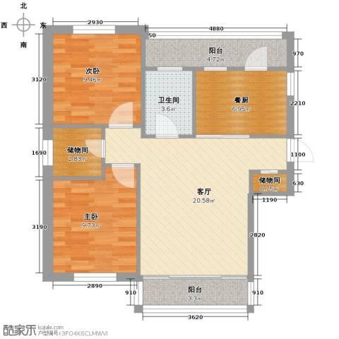 中北春城三期2室1厅1卫0厨72.00㎡户型图