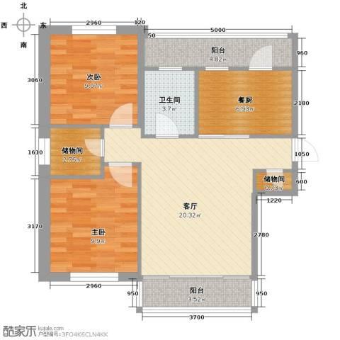 中北春城三期2室1厅1卫0厨73.00㎡户型图