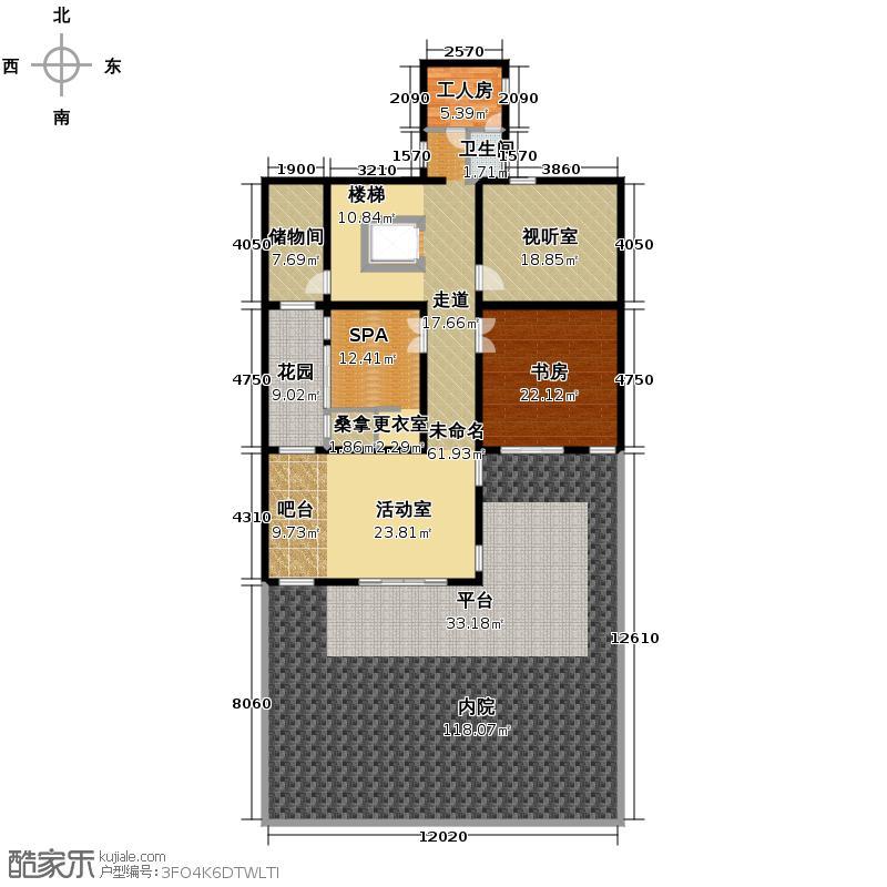 阳明山庄282.86㎡A1-N-01一层户型10室