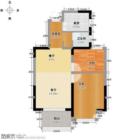 城建琥珀五环城2室2厅1卫0厨84.00㎡户型图