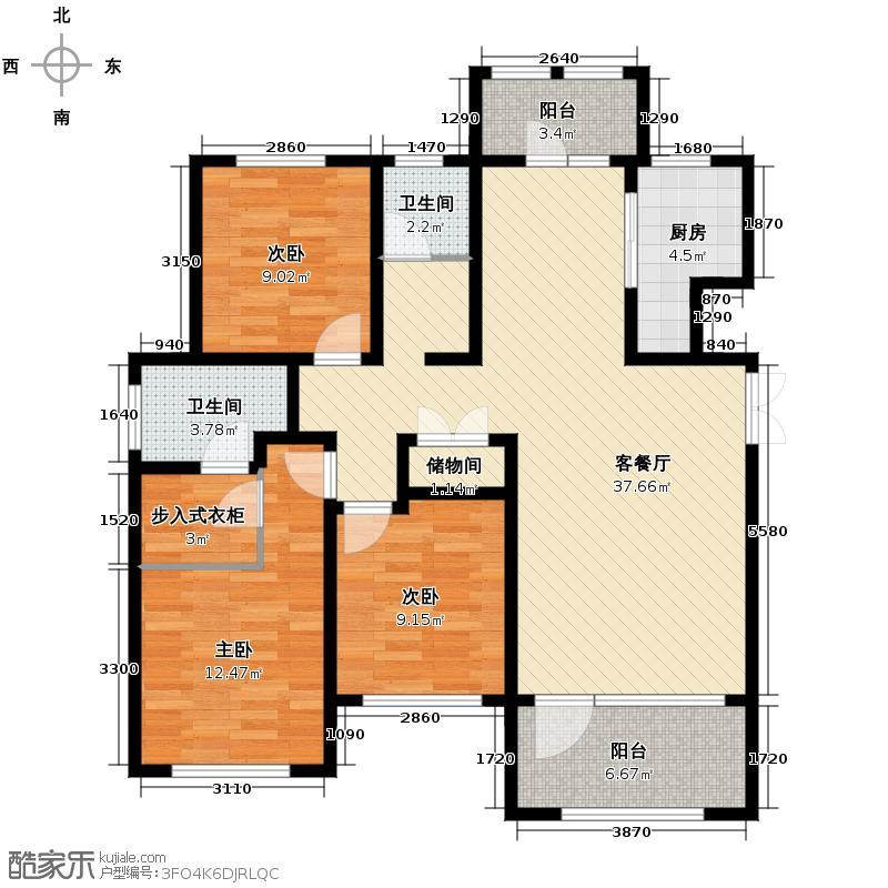群力玫瑰湾2.00㎡G02/G03预测建筑面积15253至户型3室2厅2卫
