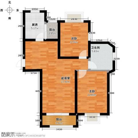 天旺名都2室2厅1卫0厨97.00㎡户型图