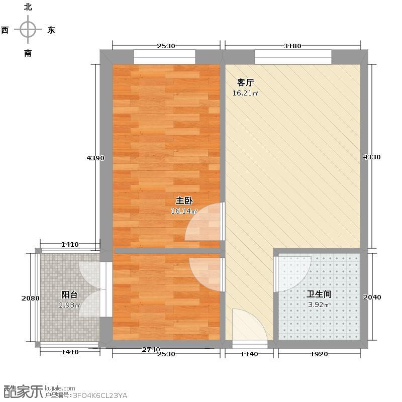 中北春城三期33.20㎡公寓户型1室1厅1卫
