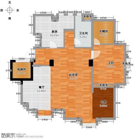 保利拉菲公馆1室2厅1卫0厨94.49㎡户型图
