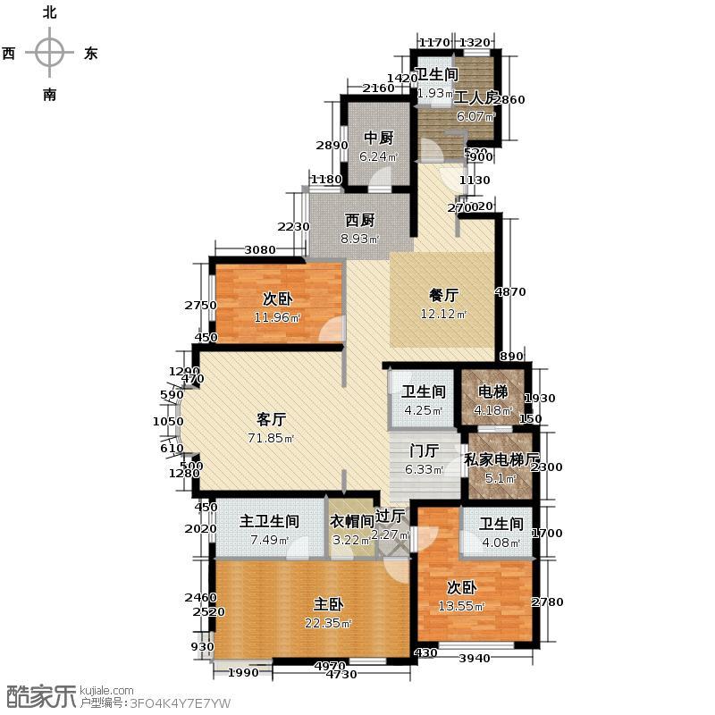 远洋万和城182.33㎡户型3室1厅3卫