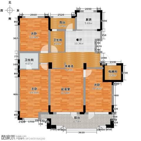 保利拉菲公馆3室2厅2卫0厨140.00㎡户型图