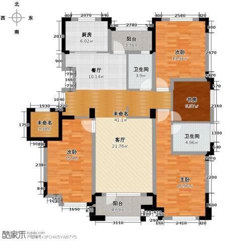 保利拉菲公馆3室2厅2卫0厨150.00㎡户型图