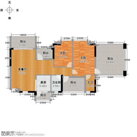 嘉景华庭2室1厅1卫1厨112.00㎡户型图