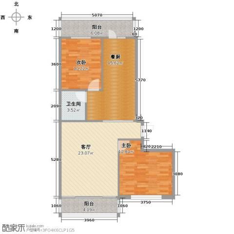 中北春城三期2室1厅1卫0厨105.00㎡户型图