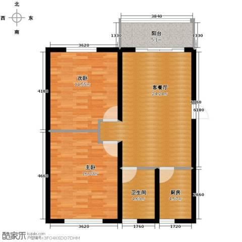 青春水岸2室1厅1卫0厨93.00㎡户型图