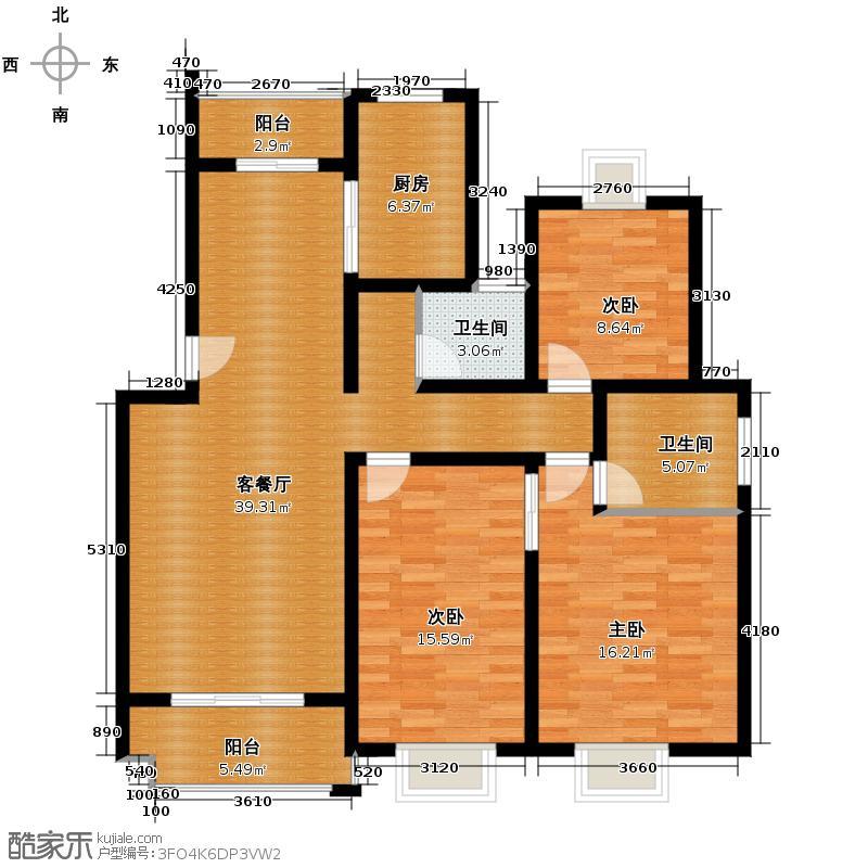 武夷绿洲117.77㎡C2户型10室