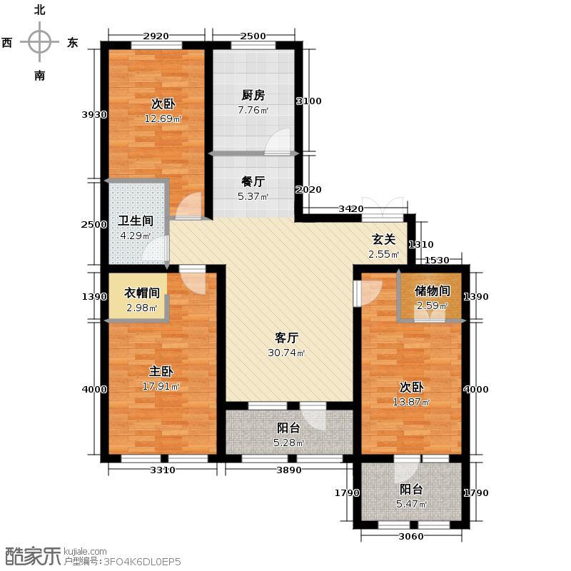 群力玫瑰湾3.00㎡D03/D06预测建筑面积13890至户型3室2厅1卫