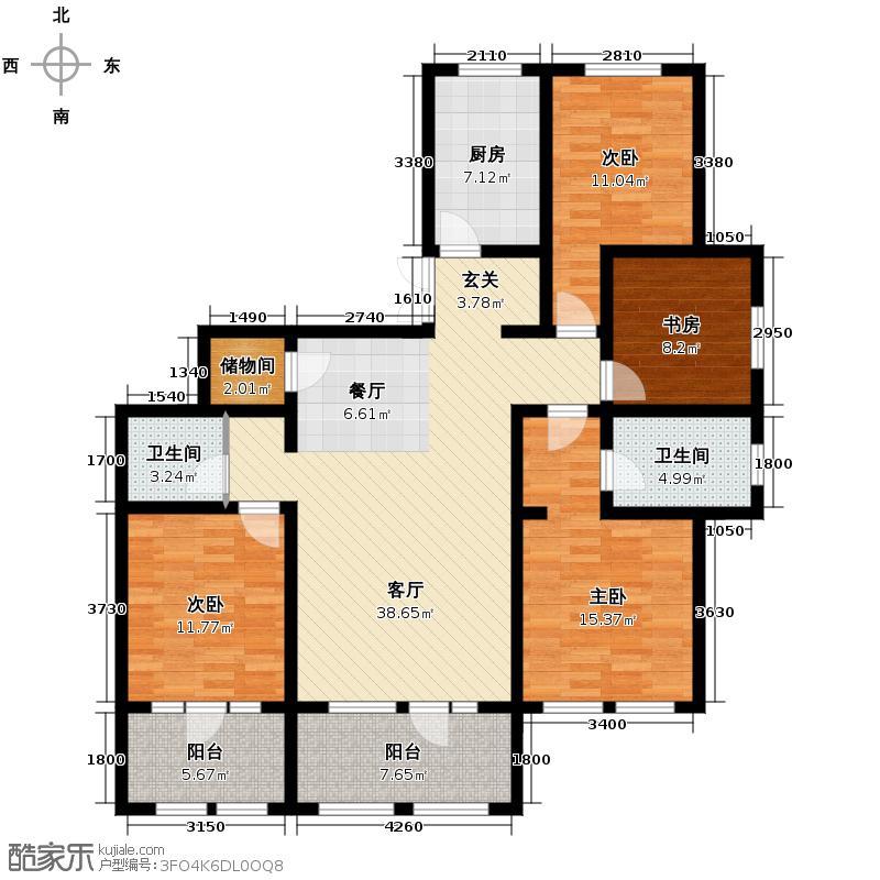 群力玫瑰湾3.00㎡D03/D06预测建筑面积15796至户型4室2厅2卫