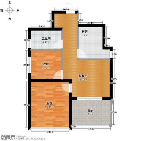 青春水岸2室1厅1卫0厨75.00㎡户型图