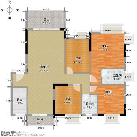 康怡花园4室1厅2卫1厨150.00㎡户型图