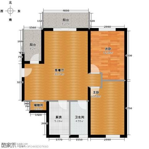 青春水岸2室2厅1卫0厨98.00㎡户型图