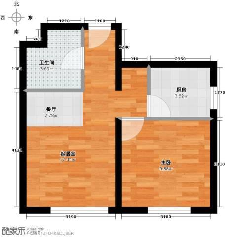 郁金台1室1厅1卫0厨36.00㎡户型图