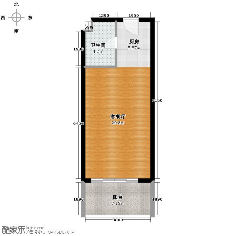 山海湾温泉家园43.00㎡户型10室