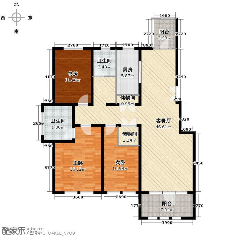 群力玫瑰湾14.00㎡D14/D15预测建筑面积15856至户型3室2厅2卫