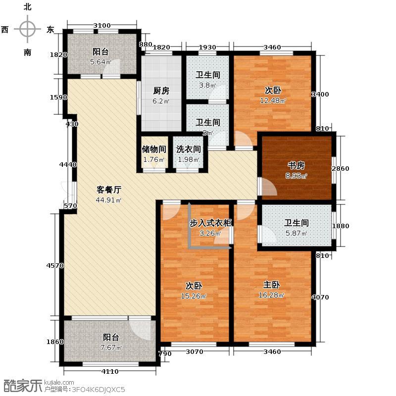 群力玫瑰湾2.00㎡G02/G03预测建筑面积20068至户型4室2厅2卫