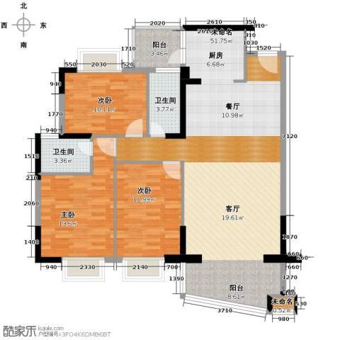 星晖园3室0厅2卫0厨138.00㎡户型图