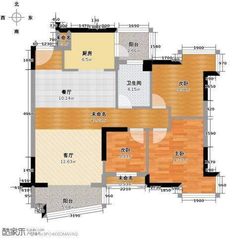 星晖园3室0厅1卫0厨109.00㎡户型图