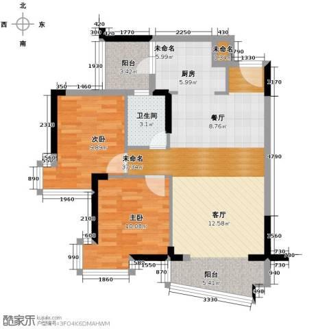 星晖园2室0厅1卫0厨91.00㎡户型图