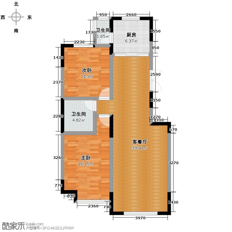上和园著91.38㎡7#一单元02室2室户型2室2厅1卫