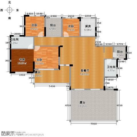 人信太子湾3室1厅2卫1厨167.52㎡户型图