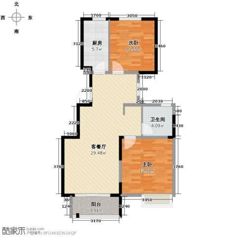 华菁水苑2室2厅1卫0厨87.00㎡户型图