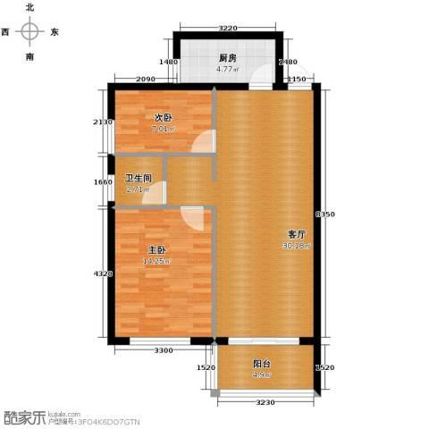 青春水岸2室1厅1卫0厨84.00㎡户型图