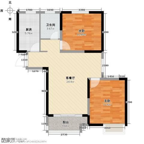华菁水苑85.00㎡户型图
