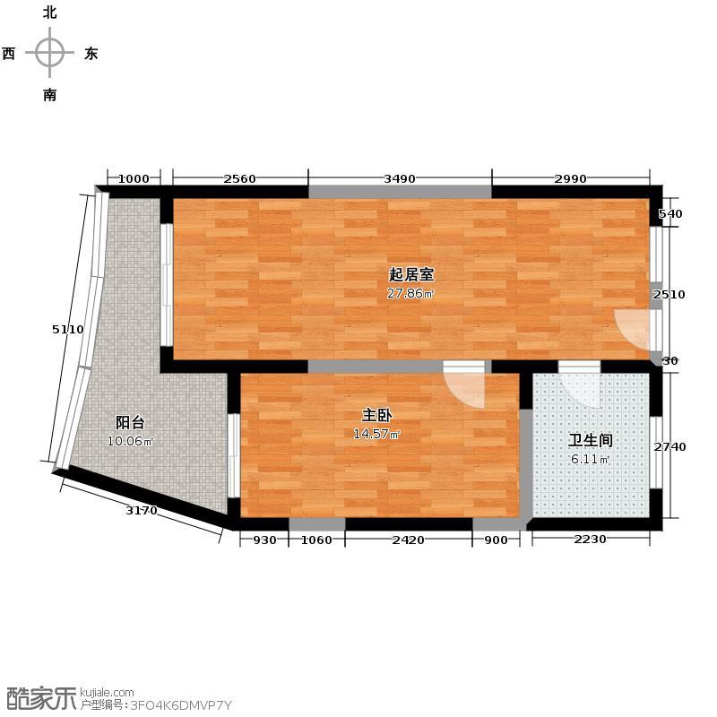 海东方66.86㎡6#楼B-面图-2户型10室