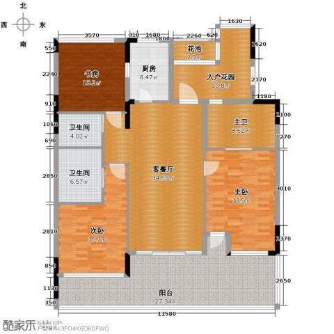 合景・汀澜海岸3室2厅3卫0厨153.00㎡户型图